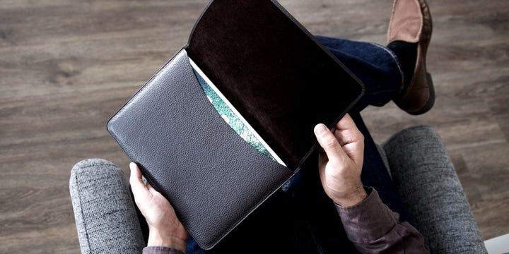 "Pochette Enveloppe iPad Pro 11"" - Naturel - Cuir Lisse"